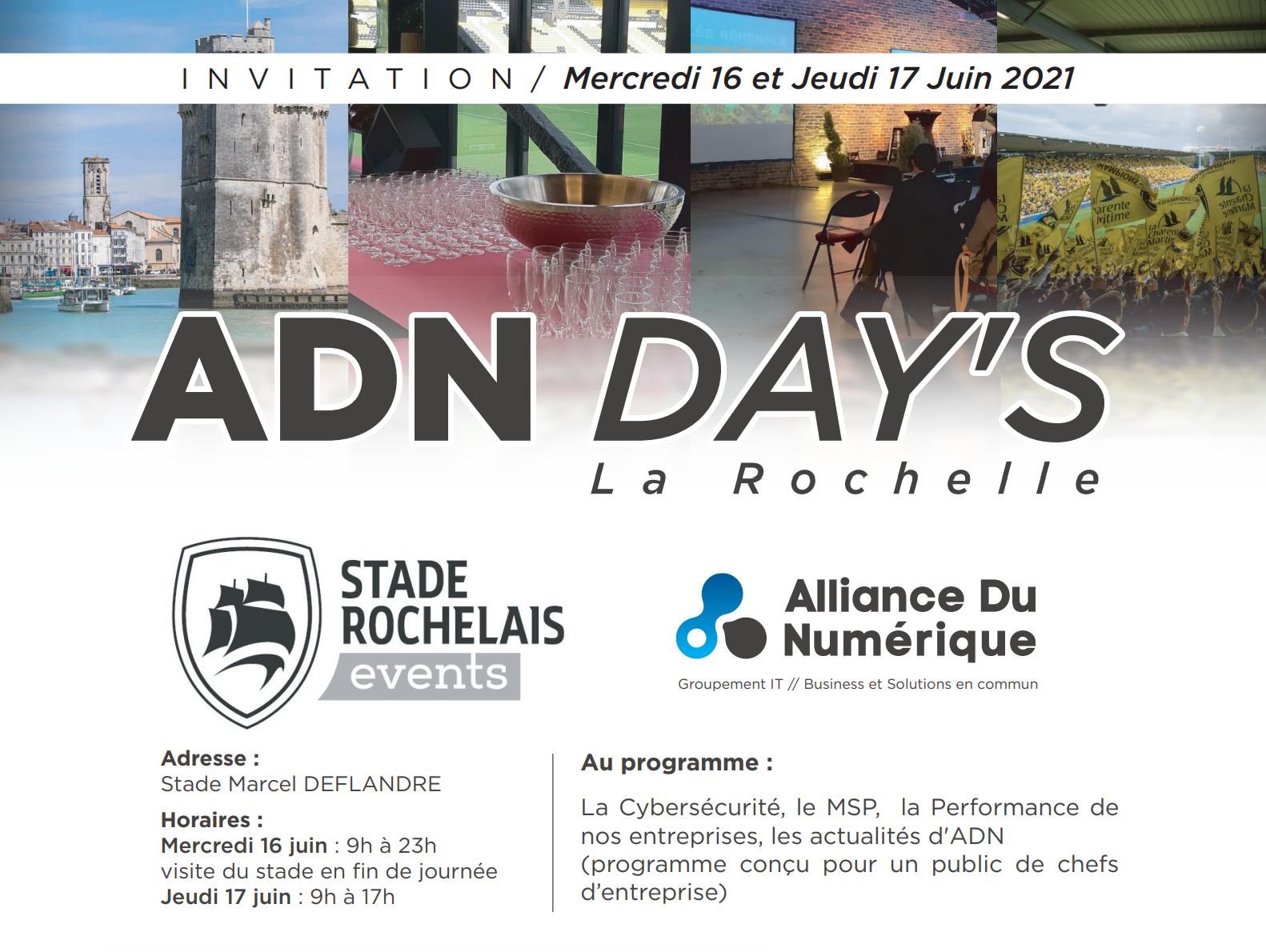 ADN Days à La Rochelle 16 et 17 Juin 2021